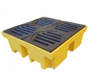 Pallet de Contenção Para 4 Tambores 420L Perfil Alto